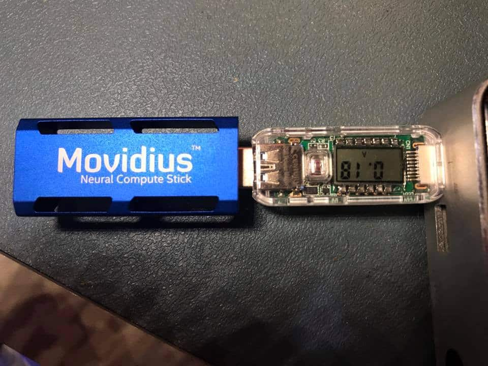 Movidius Neural Compute Stick power consumption 0.18A